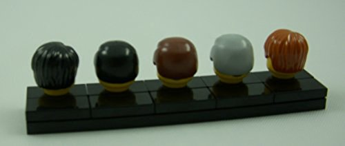 LEGO Minifigure Minifig Hair Pack of 5 - Male Hair Pieces