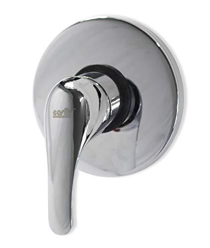 Vetrineinrete Miscelatore per doccia ad incasso da parete in ottone cromato rubinetto monocomando moderno con corpo di incasso rotondo 52835 A63