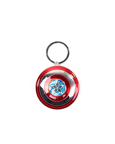 Bioworld Marvel Comics Captain America Civil War Shield 3D Anhänger Metall Schlüsselanhänger (Ke010703Cap) Schlüsselanhänger, 16 cm, Multi