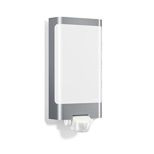 Steinel LED Außenleuchte L 240 LED Edelstahl, 7.5 W, LED Wandlampe, warm-weiß, 180° Bewegungsmelder, 10 m Reichweite
