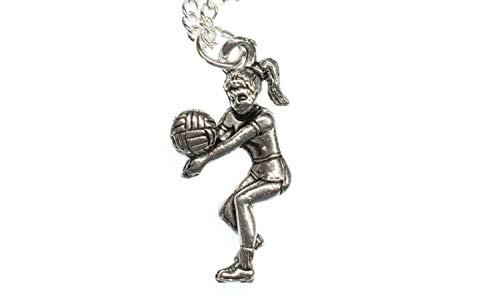 Miniblings Volleyballspielerin Volleyball Halskette - Handmade Modeschmuck I Kette mit Anhänger Länge: 45cm - Volleyballspieler Sport