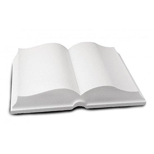 Libro Aperto in POLISTIROLO Forma Base per Cake Design Laurea Prima Comunione (30X40 CM)