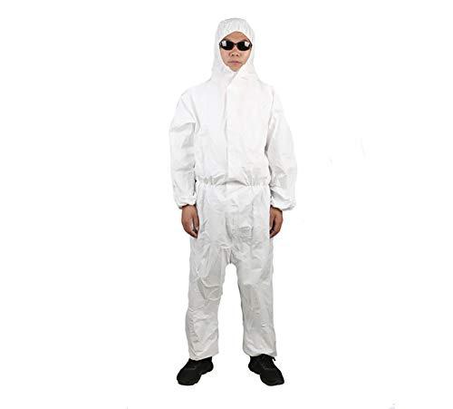 Cumio Beschermende kleding De SMS non-woven doek wegwerp laboratorium isolatie afdekking lichte, ademende waterdichte en oliebestendige stofdichte antistatische coveralls