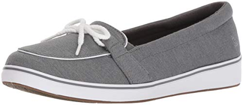 Grasshoppers Women's Windham Knit Boat Shoe,Charcoal,5.5 N US