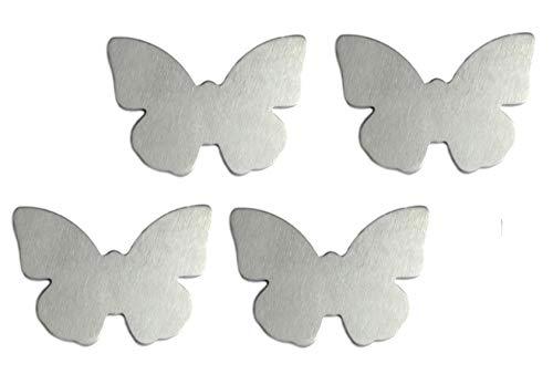 Table Cloth Weights 4 magnetische Tischdeckenbeschwerer Tischdeckengewichte Tischtuch-Halter mit Magnet, Silber (Schmetterling)