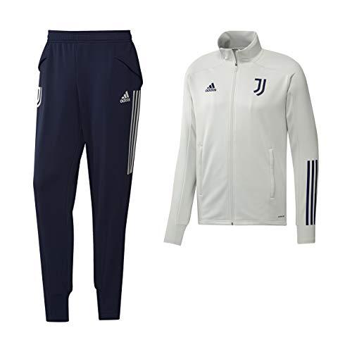 adidas Juventus Tuta Allenamento Panchina Orbit Grey 2020/21 - Uomo - 100% Originale - 100% Prodotto Ufficiale - L, Orbit Grey