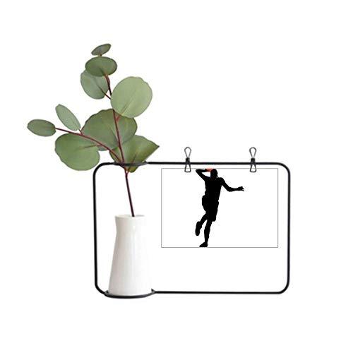 DIYthinker Moldura de metal Slam Dunk Jumping Sports Basketball Decoração de vaso de cerâmica