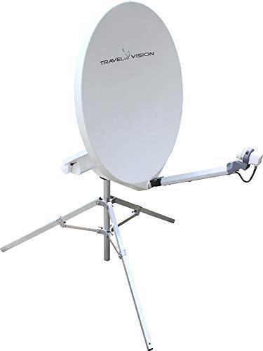 Travel Vision R7-65 Mobile Vollautomatisch Sat-Anlage Antenne Camping Spiegelantenne Fahrzeug weiß