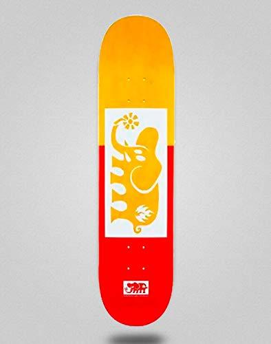 Black Label Skateboard Skateboard Deck Board Black Out 8.25 Yellow Red