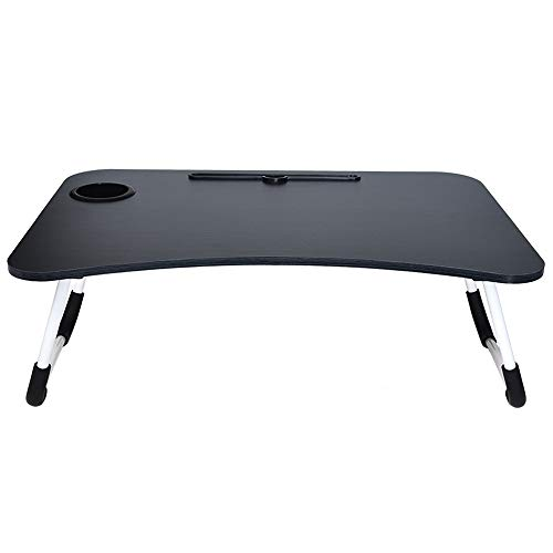 Folding Lazy Computer Table Portable Standing Desk Breakfast Tray for Bed with Foldable Metal Legs, Shipped from US