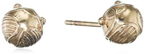 Orecchini a perno con licenza Harry Potter ufficialmente boccino d'oro argento