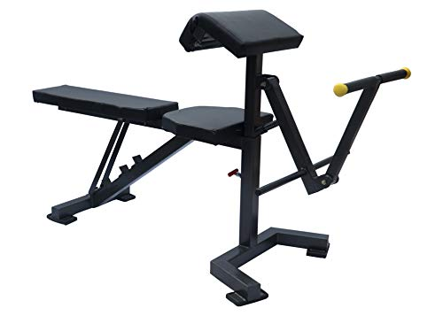 FITNESS YOUTH™ Adjustable Weight Olympic Bench with Leg Developer Extension and Preacher Bicep Curl