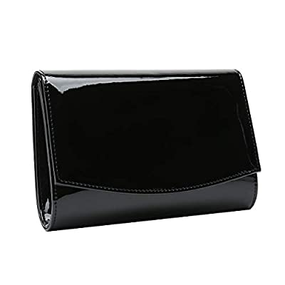 Charming Tailor Patent Leather Flap Clutch Classic Elegant Evening Bag Chic Dress Purse