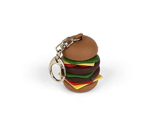 Kikkerland- Porte-Clés Burger avec LED à l'Unité, KRL35-EU