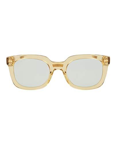 Gucci GG0181S 005 Occhiali da Sole, Giallo (5/Light-Bluee), 50 Unisex-Adulto