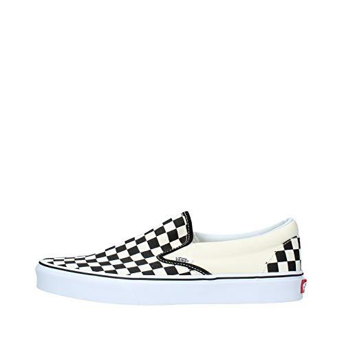 Vans U Classic VEYEBWW Unisex-Erwachsene Sneaker,Schwarz (black and white checker/white), EU 39(US 7)
