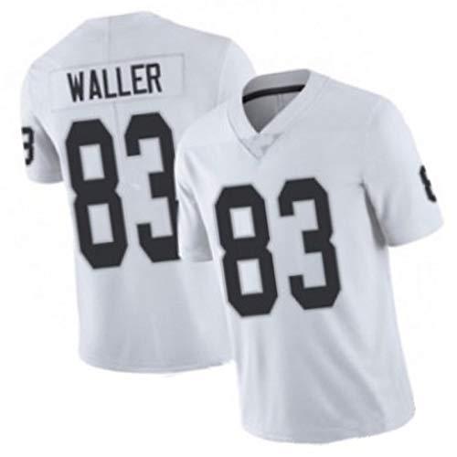 MRRTIME Raiders 2020 de fútbol Americano 2020, Waller 83 Mack 52 Rugby Fan Premier Jersey y Pelotas de Buceo Pantalones Cortos de Rugby White 83-M