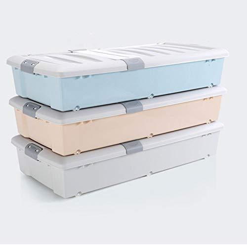 ZRWZZ 3-delige Set Kleding Opbergdoos, Speelgoed Grote Capaciteit Roller Beweging Met Cover Bed Bodem Opbergdozen Lade Type Plat Opgelegde Container Box