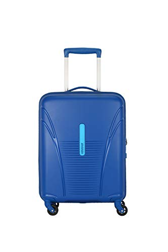 American Tourister Ivy PP 55 cms Blue Hardsided Spinner Luggage with Built-in TSA Lock