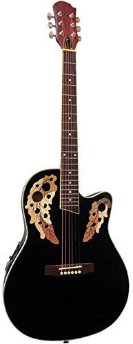Guitare Électro-Acoustique Type Ovation Noire ~ Neuve & Garantie