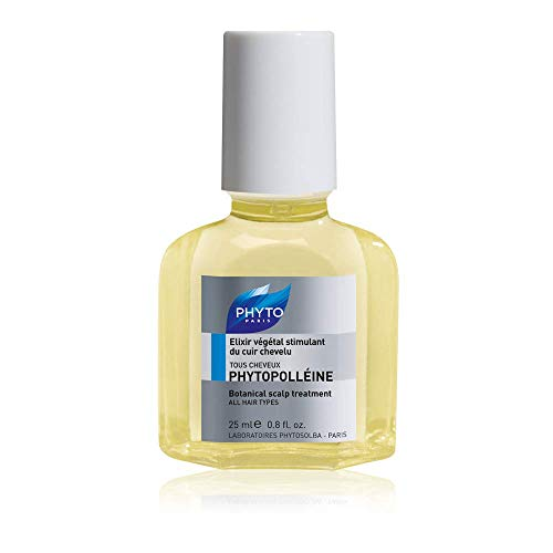 Phyto Phytopolleine Elisir Pre Shampoo Vegetale Rivitalizzante per Tutti i Tipi di Cuoio Capelluto, Formato da 25 ml