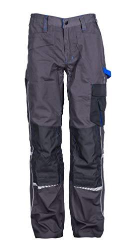 Stenso Prisma® - Herren Arbeitshose Bundhose/Cargohose mit Multifunktions/Kniepolster-Taschen - Grau EU56