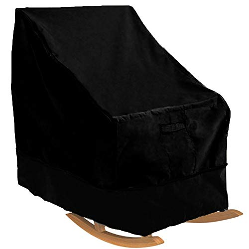OOFIT Abdeckung für Schaukelstuhl,gartenmöbel abdeckplane, klassisch, staubdicht, wasserdicht,70 * 83 * 99cm, Schwarz