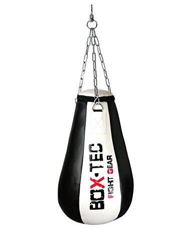 Box-Tec Maisbirne/Boxbirne/Schlagbirne/Uppercut/Punchingball, gefüllt, Black & White - Edition
