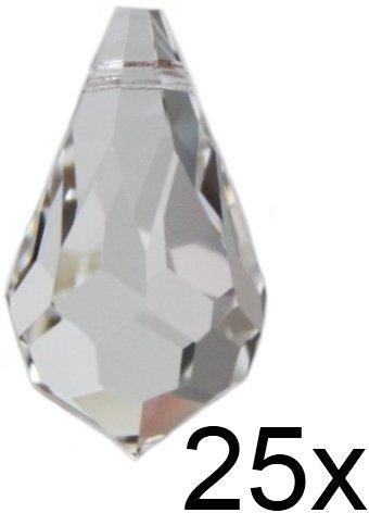 Set: 25 Stück Kristall Tropfen 20mm SPECTRA® CRYSTAL von Swarovski - Feng Shui Fenster Dekorations Kristalle