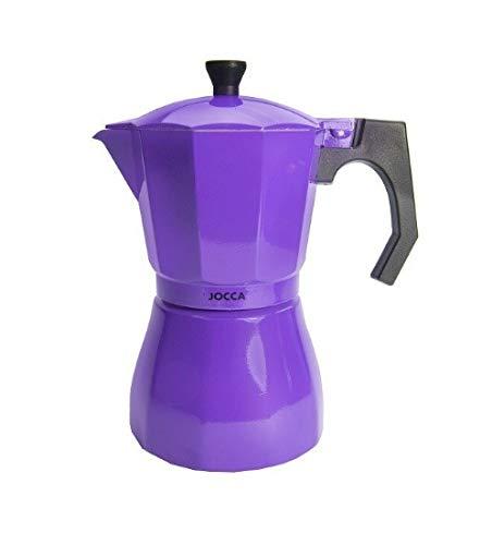 Intervic Cafetera Italiana New Espresso de 6 Tazas Aluminio Tradicional Cocina vitroceramica Gas electrica vitro Fuego Color Rojo Azul Cielo Morado Purpura Negro (Purpura)