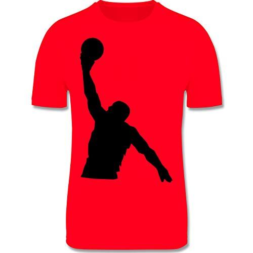 Sport Kind - Basketballer Wurf - 164 (14/15 Jahre) - Rot - Laufshirt - F350K - atmungsaktives Laufshirt/Funktionsshirt für Mädchen und Jungen