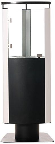 Unbekannt Benedomi Bio-Ethanol Standkamin Kemi Ethanolkamin, Metall, Schwarz Silber, 46 x 42 x 117 cm