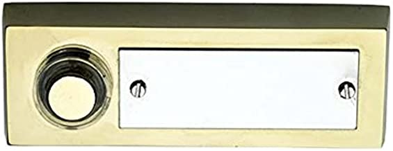 Byron 10.007.96 (3334) Wired Surface Mounted Bell Push Button Nameplate, Gold