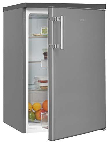 Exquisit Kühlschrank KS16-V-H-010D inoxlook | Standgerät | 134 l Volumen | Inoxlook