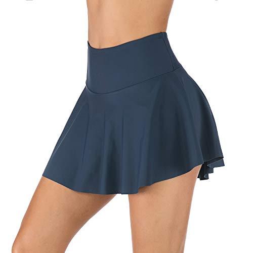 PANAX - Mädchen Hoche Taille Baderock - Mini Bikinihose Strand Rock mit Innenslip Navy, Größe XL