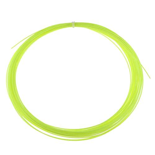 yotijar Cuerda de Tenis de 10 M para Cuerdas de Bádminton de Raqueta de Tenis - Amarillo Fluorescente