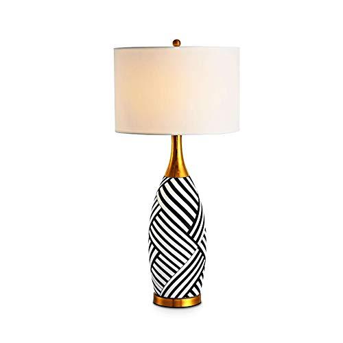 WZHZJ LED Moderna Minimalista lámpara de Mesa de cerámica for el Dormitorio Sala de Estar Mesita luz Creativa lámpara Decorativa