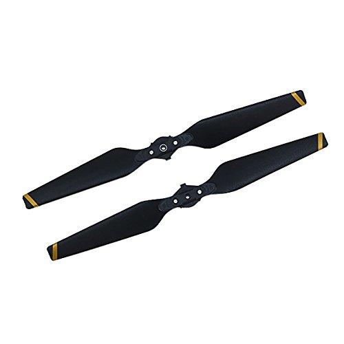2pcs hélice DJI Mavic quick-released plegable hélices, Negro DJI Spark accesorios, negro y amarillo