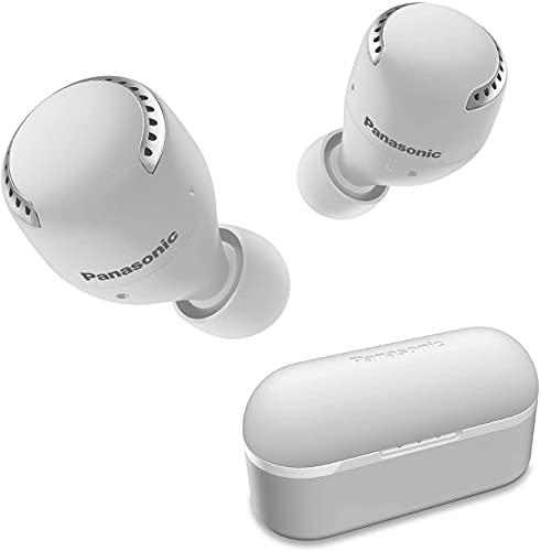Panasonic RZ-S500WE-W - Auriculares True Wireless Inalámbricos con Sensor Táctil (Batería Larga Duración y Antena Compatible con Asistentes de Voz) Blanco