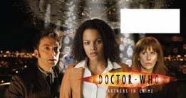 Funda para Sello de Doctor Who con Texto en inglés Partners in Crime firmada por Verona Joseph
