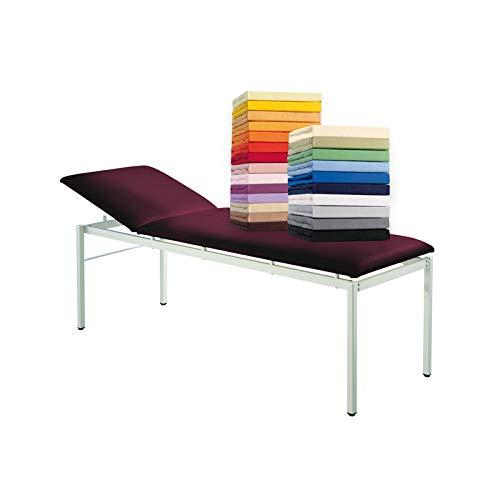 G Bettwarenshop Frottee Therapieliegenbezug Massageliegenbezug Weiss, 65 x 195 cm