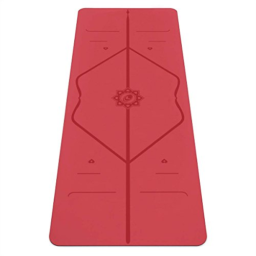 Liforme Esterilla Yoga Love Original - Mejor Alfombrilla de Yoga Antideslizante del Mundo - con Sistema De Alineación Original y Patentado - Colchoneta De Yoga Ecológica - Edición Especial Love