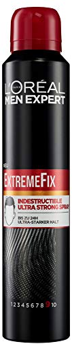 L'Oréal Men Expert Extreme Fix Indestructible Spray: Extra starkes Styling Haarspray; Jeder Haartyp; Extremer Halt & schnell trocknend, 200ml