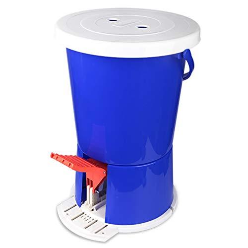 Lavadora De Mini Pedal Lavadora Manual PortáTil con Pedal Lavadora De Ropa Motion Fitness Sin Energia Electronica para Acampar Casa Dormitorio Bañera Individual Azul