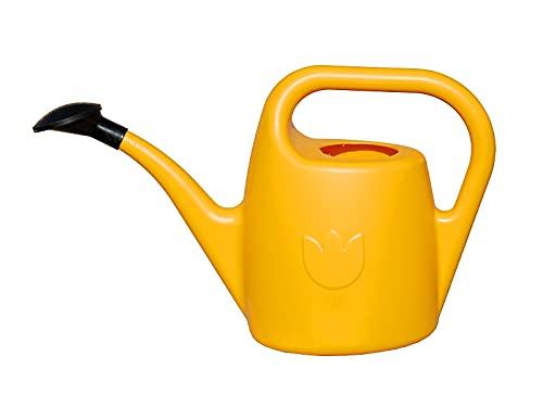 Plastia Gartengießkanne mit dem Brausekopf, 2 Liter grün - Gießkanne aus Hochwertigem Kunststoff - Handliche Giesskanne für Innen- und Außenbereich - Ideal für Bewässerung für Zimmerpflanzen, Gelb