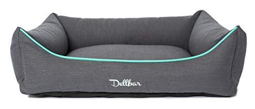 Dellbar Orthopedische hondenmand I waterafstotend en robuust I voor honden met rug- en/of gewrichtsproblemen I afneembare overtrek I drukontlastend dankzij geheugenschuim vlokken I 2 maten, 85x65x20, antraciet
