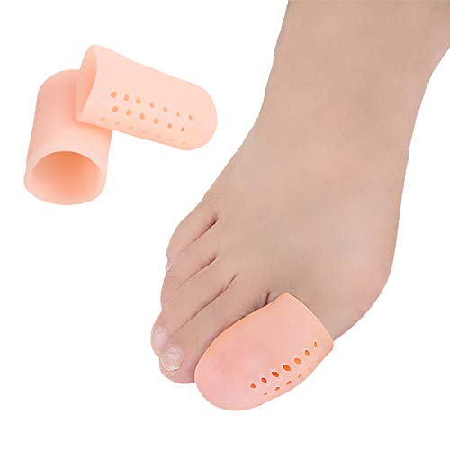 Big Toe Protectors Gel Toe Caps 10 PCS, New Breathable Toe Covers with Holes for Blisters, Corns, Broken Toe, Ingrown Toenail - Silicone Toe Cushions for Shoes for Women & Men - Large …
