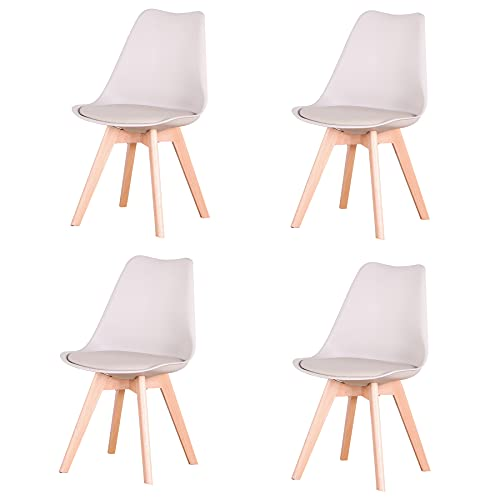 GrandCA HOME Set di 4 sedie, sedia da pranzo, sedia in stile nordico, adatta per soggiorno, sala da...