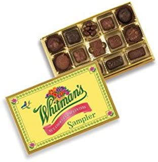 Whitman's Sampler Nut Chewy & Crisp Centers Box 12 Ounce Whitman's Sampler Assortment Box; An Assortment of Nutty, Chewy, and Crispy Milk Chocolate Covered Candies and Dark Chocolate Covered Candies