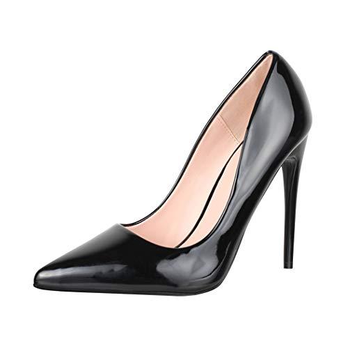 Elara Spitze Damen Pumps Stilettos High Heels Chunkyrayan B0-108 B38
